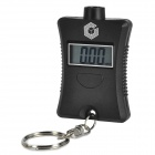2-in-1 1.0'' LCD Key Chain Style Digital Car Tire Pressure Tread Depth Gauge - Black (1 x CR2032)