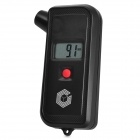 2-in-1 0.8'' LCD Digital Car Tyre Pressure Tread Depth Gauge - Black (1 x CR2032)
