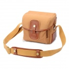 Stylish Canvas One Shoulder Bag for Canon Camera - Brown (M-Size)