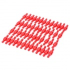 Nylon Full Insulated Male to Female Terminal Block - Red (50-Piece Pack)