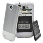 "L21 Android 4.0 WCDMA Bar Phone w/ 4.3"" Capacitive Screen, GPS, Wi-Fi and Dual-SIM - White"