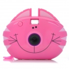 "Cute Cat Style 1.1"" LCD 300KP Digital Camera for Kids - Deep Pink (2 x AAA)"