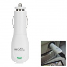 Car Cigarette Powered Adapter Charger w/ 2 x USB Cables / 7 x Adapters - White