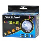 Aquarium Waterproof 1W 110lm 6500K LED Blue Light Bulb (AC 100~240V)