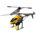 Mini Rechargeable 3.5-CH IR R/C Transport Helicopter with Carrier Basket - Black + Yellow