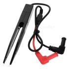 Professional SMD Test Clip Meter Probe Tweezers Capacitor- Black + Red