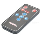 Portable Mini MP3 Vibration Speaker w/ FM / USB / TF / Remote Controller - Black