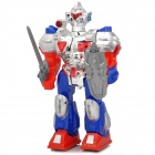 Sword and Shield Armed Walking Robot Toy w/ Sound & Lighting Effects (3 x AA)
