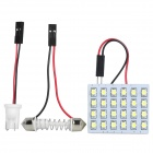 Festoon 31~42MM 1W 90~125LM 24x1210 SMD White LED Car Reading / Dome Lamp