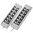 1.5W 12-LED Yellow Light Car Steering / Clearance Light Lamp (Pair / 12V)