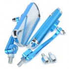 Aluminum Alloy Motorcycle Anti-Glare Rearview Mirrors - Blue (2-Piece)