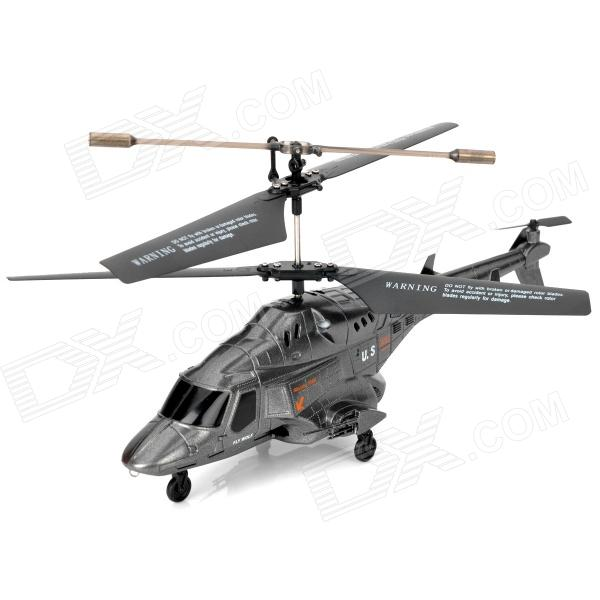 Iphone/Ipod Touch/Ipad/Android Phones Controlled Rechargeable 3.5-CH R/C Helicopter - Silver Grey
