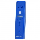 2-in-1 Remote Controller w/ Motion plus / Silicone Sleeve / Strap for Wii - Dark Blue (2 x AA)