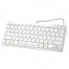 DoMiSo Creative 78-Key Music Symphony Computer Keyboard with Software USB Disk - White