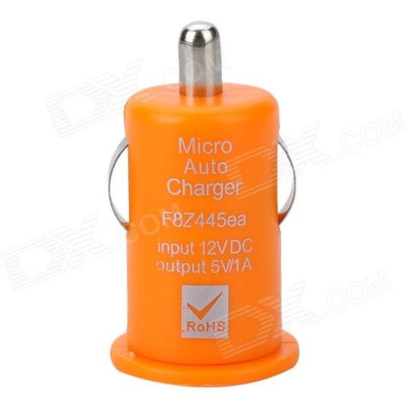 Mini USB 2.0 Car Cigarette Lighter Power Adapter for Iphone / HTC / Nokia - Orange (12V) la pastel 3 30 30