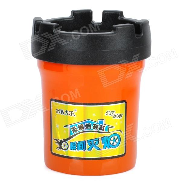 Auto Car Butt Bucket Extinguishing Ashtray - Black + Orange ashtray