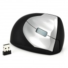 Stylish 1600dpi Vertical Handheld Wireless Mouse - Silver + Black