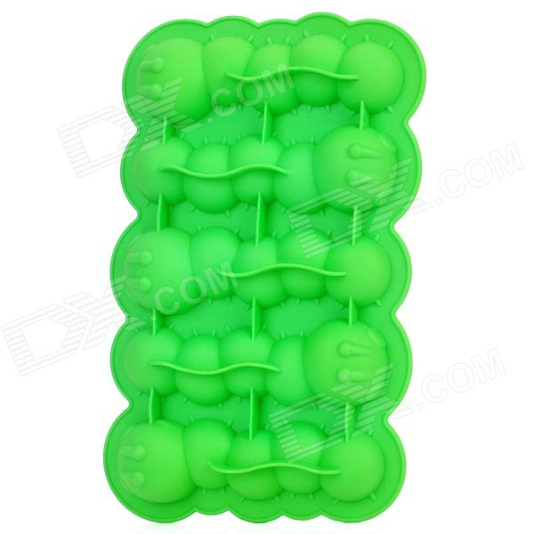 Silicone Caterpillar Shaped Ice Cubes Trays Maker DIY Mould - Green silicone skeleton shaped ice cubes trays maker diy mould random color