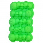 Silicone Caterpillar Shaped Ice Cubes Trays Maker DIY Mould - Green