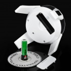 1xAA Powered visualização Rotating Turn Table Placa Solar - Branco