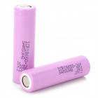 Genuine Samsung 2600mAh 3.7V 18650 Rechargeable Lithium Battery - Pink (2-Piece Pack)