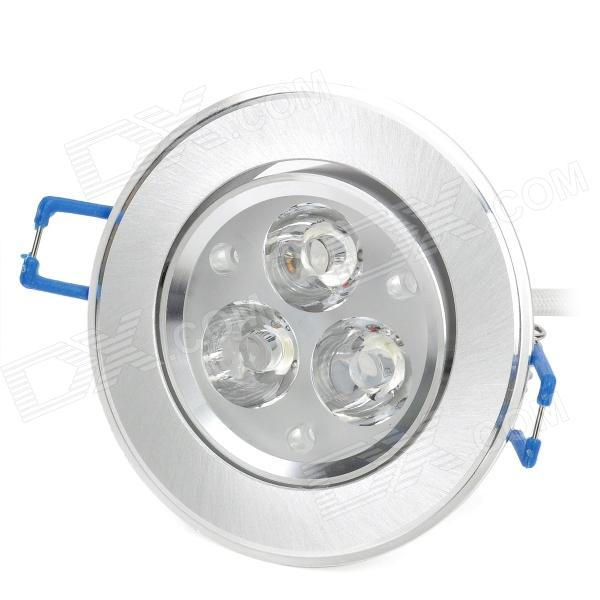 3W 3-LED 6500K 100Lumen White Light Ceiling Lamp w/ LED Driver - Silver (AC 85~220V)