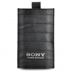 Protective Genuine Leather Case Pouch for Sony LT26i / MT27i / ST25i - Black