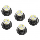 T4.2 0.7W 5-SMD 6500K 25LM 3020 LED White Light Bulbs for car - Black (DC 12~14V)