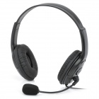 Wired Headphones Headset w/ Mic / Volume Control for Xbox 360 - Black (100cm-Cable / 2.5mm-Plug)