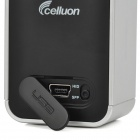 Celluon Magic Cube 66-Key Bluetooth V1.1 USB Powered Laser Infrared Keyboard - Silver + Black