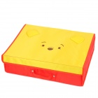 Winnie the Pooh Style Beef Tendon Storage Suitcase - Yellow + Red