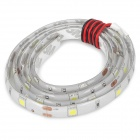 6W 30x5050 SMD LED White Light Car Decorative / Daytime Running Flexible Lamp Strip (12V)
