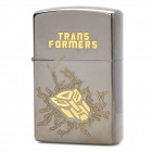 Cool Transformers Pattern Fluid Fuel Lighter - Dark Silver + Yellow