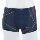 Men's Soft Geometric Pattern Modal Fabric Boxers Brief Underwear - Light Blue (Size-M)