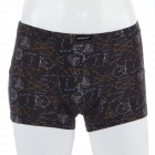 Men's Soft Modal Fabric Anion Energy Boxers Brief Underwear - Brown (Size-M)