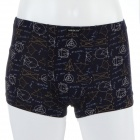 Men's Soft Modal Fabric Anion Energy Boxers Brief Underwear - Black (Size-M)