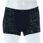 Men's Soft Modal Fabric Anion Energy Boxers Brief Underwear - Navy Blue (Size-M)