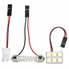 6-SMD 1W 6000~6500K 90~125LM 5050 LED White Light Bulbs for Car (12V)