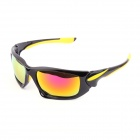 Authentic CARSHIRO Motorcycle Polarized Sunglasses - Black + Yellow
