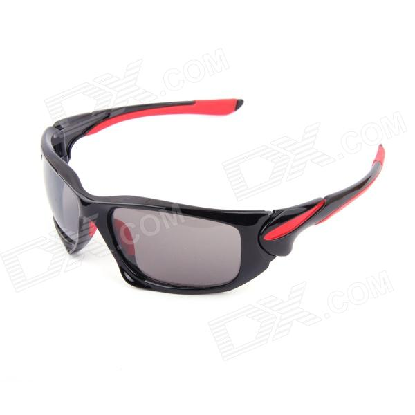 Authentic CARSHIRO Motorcycle Polarized Sunglasses - Black + Red carshiro 9191 men s stylish uv400 polarized goggles sunglasses black red