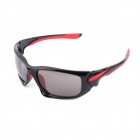 Authentic CARSHIRO Motorcycle Polarized Sunglasses - Black + Red