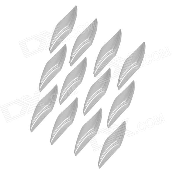 Slim Plastic Door Guard Protector for Auto Car - Grey (12-Piece Pack) yi 221 door guard protector decorative sticker for auto car white 4 pcs