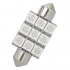 Festoon 39mm 2W 9x5050 SMD 70LM Blue Light Car Reading / Decoration Lamp (12~14V)