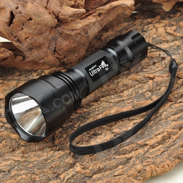 Ultrafire C2 3W Flashlight - Black (2 x CR123A / 1 x 18650)