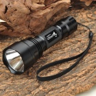 Ultrafire C2 3W Cree 2xCR123A 1x18650 Flashlight Black