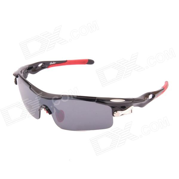 OREKA Fashion Outdoor Sports PC Lens UV400 Protection Sunglasses - Black + Red