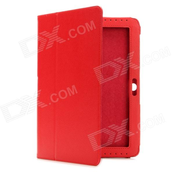 Protective PU Leather Case for Samsung Galaxy Tab 2 P5100 - Red g cover pu leather hand bag for ipad 2 3 4 samsung galaxy tab p5100 10 table pc blue