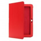 Protective PU Leather Case for Samsung Galaxy Tab 2 P5100 - Red