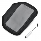 Sports Gym Arm Band Case + Stylus Set for Samsung i9300 Galaxy S3 - Black
