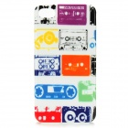 Colorful Cassette Style Protective PC Back Case for Iphone 4 / 4S - White + More